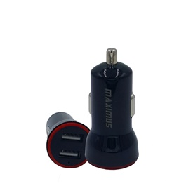 Maximus 2 USB Port 2.4A Car Charger-SehgalMotors.Pk