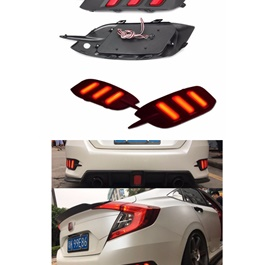 Honda Civic Running Back Bumper Light Mustang Style - Model 2016-2018