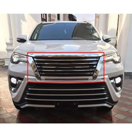 Toyota Fortuner Front Grille Chrome Black Taiwan - Model 2016-2019-SehgalMotors.Pk