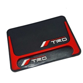 TRD Dashboard Non Slip Mat Red And Black