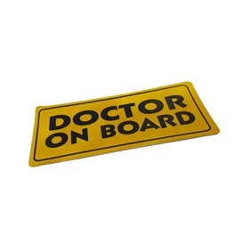 Doctor On Board Warning Sticker -SehgalMotors.Pk