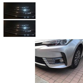 Toyota Corolla Front Chrome 8 pcs - Model 2017-2019-SehgalMotors.Pk