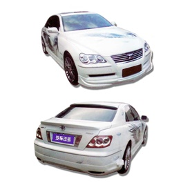 Toyota Mark x Small Body Kit 4 Pcs Plastic PP - Model 2006-2010-SehgalMotors.Pk