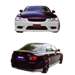 Toyota Mark x Big Body Kit 4 Pcs Plastic PP - Model 2006-2010-SehgalMotors.Pk