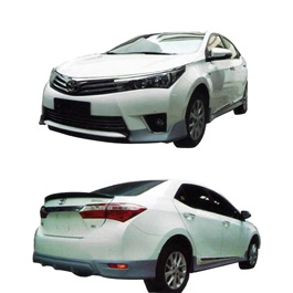 Toyota Corolla Small Body Kit / Bodykit 4 Pcs Plastic PP - Model 2014-SehgalMotors.Pk