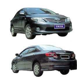 Toyota Corolla Small Body Kit / Bodykit A Style 4 Pcs Plastic PP - Model 2011-SehgalMotors.Pk