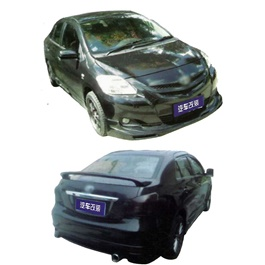 Toyota Belta Small Body Kit / Bodykit 4 Pcs Plastic PP - Model 2008-2010-SehgalMotors.Pk