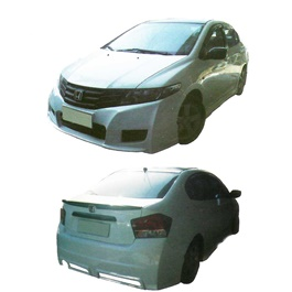 Honda City Big Body Kit 4 Pcs Plastic PP - Model 2008-2011	-SehgalMotors.Pk