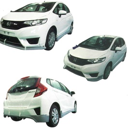 Honda Fit Small Body Kit / Bodykit 4 Pcs Plastic PP - Model 2014-SehgalMotors.Pk