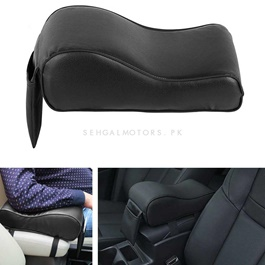 Universal Armrest Cushion Black with Phone Holder | Car Armrest Cushion Pad | Car Seat Cover Auto Center Arm Rest Console Box Protective Mat