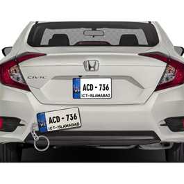 Customized Islamabad New Number Plate With Car Number Metal Key Chain / Key Ring-SehgalMotors.Pk