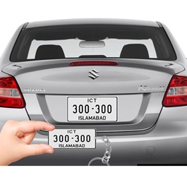 Customized Islamabad Number Plate With Car Number Metal Key Chain / Key Ring-SehgalMotors.Pk