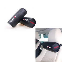 TRD Universal Foam Cylinder Shape Neck Rest Pillow - Black-SehgalMotors.Pk