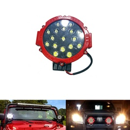 Round LED Spot Beam Pair For Jeep Safe Guard Small - Pair-SehgalMotors.Pk