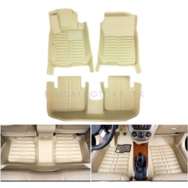 Toyota Corolla Face Lift 5D Custom Floor Mat Beige - Model 2017-2019-SehgalMotors.Pk