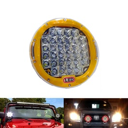 Jeep Fog Lamps / Fog Lights Yellow - Pair | Round Spotlight Pod Off Road Fog Driving Roof Bar Bumper For Jeep,Suv Truck, Hunters | Led Beams Led Bar Offroad 4x4 Car Light SUV Accessories Fog Lamp For Pickup Truck Jeep Wrangler | LED Work Light Car Spot Beam Driving Fog Lamp-SehgalMotors.Pk