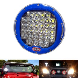 Jeep Fog Lamps / Fog Lights Blue - Pair | Round Spotlight Pod Off Road Fog Driving Roof Bar Bumper For Jeep,Suv Truck, Hunters | Led Beams Led Bar Offroad 4x4 Car Light SUV Accessories Fog Lamp For Pickup Truck Jeep Wrangler | LED Work Light Car Spot Beam Driving Fog Lamp-SehgalMotors.Pk