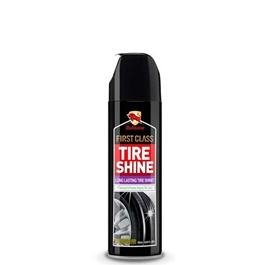 Bullsone Firstclass Tire / Tyres Shine Spray | Tire-wheel Dedicated Refurbishing Agent Cleaner Auto Interior Cleaning Tool Tyre Gloss Polish Car Accessories | Aerosol Tire Inflator-SehgalMotors.Pk