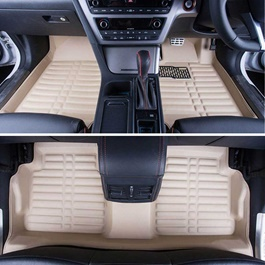Toyota Prado 5D Floor Mat Beige - Model 2009-2017 | Car Interior Mats For Floor | Car Mats | Vehicle Mats | Foot Mat For Car | Custom Car Floor Mats-SehgalMotors.Pk