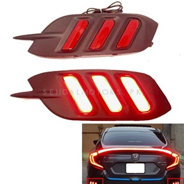 Honda Civic Back Bumper Light Mustang Style Smoke LED - Model 2016-2017-SehgalMotors.Pk