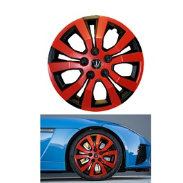 Wheel Cups / Wheel Covers ABS Black And Red 15 Inches WA4-1RD-15	-SehgalMotors.Pk