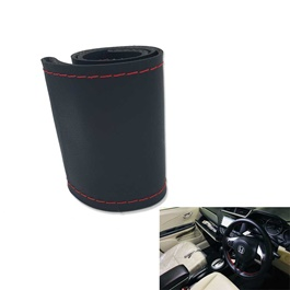 Steering Cover Black Red Stitch -SehgalMotors.Pk