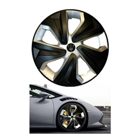 Wheel Cups / Wheel Covers ABS Matt Black And Silver 15 Inches WX2-1SL-15	-SehgalMotors.Pk