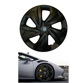 Wheel Cups ABS Matt Black 12 Inches WKO-1BK-12	-SehgalMotors.Pk