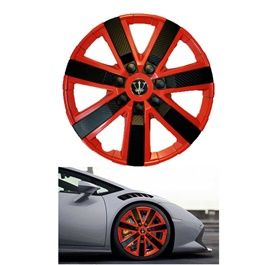 Wheel Cups / Wheel Covers ABS Red And Black 12 Inches WG1-5BK-12	-SehgalMotors.Pk