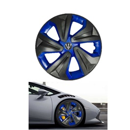 Wheel Cups / Wheel Covers ABS Black And Blue 15 Inches WK2-1BL-15	-SehgalMotors.Pk