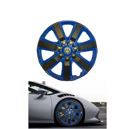 Wheel Cups / Wheel Covers ABS Black And Blue 15 Inches WGI-4BK-15	-SehgalMotors.Pk