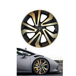 Wheel Cups ABS Black And Gold 12 Inches WK1-1GL-12	-SehgalMotors.Pk