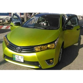 Electric Lime Wrap Per Sq Ft | Car Vinyl Wrap Film | Car Wrapping | Vehicle Wrap-SehgalMotors.Pk