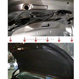 Honda Civic Trunk Liner Cover Protector Lid Garnish Diggi Namda - Model 2016-2020-SehgalMotors.Pk
