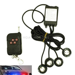 Police Light Spot Flasher with Wireless Remote Blue Red-SehgalMotors.Pk