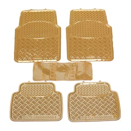 Universal Silicone Caramel 5 Pieces Floor Mats-SehgalMotors.Pk