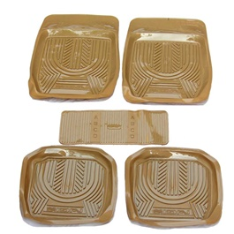 Universal Silicone Tawny 5 Pieces Floor Mats	-SehgalMotors.Pk
