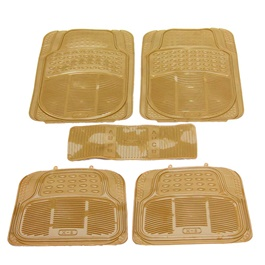 Universal Silicone Camel 5 Pieces Floor Mats	-SehgalMotors.Pk