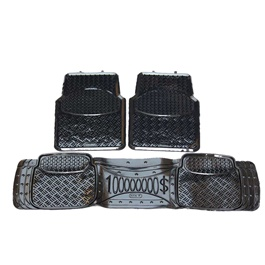 Universal Silicone Black 3 Pieces Floor Mats	-SehgalMotors.Pk
