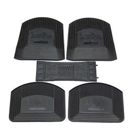 Universal Silicone Safely Drive Black 5 Pieces Floor Mats	-SehgalMotors.Pk