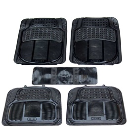 Universal Silicone Black X-8 5 Pieces Floor Mats	-SehgalMotors.Pk