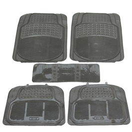 Universal Silicone Black X-8 B 5 Pieces Floor Mats	-SehgalMotors.Pk