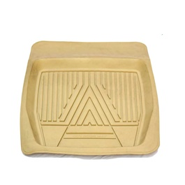 Universal Silicone Beige Style A 4 Piece Floor Mats	-SehgalMotors.Pk