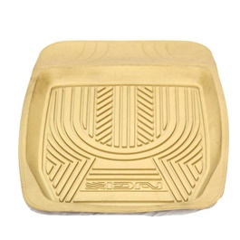 Universal Silicone Beige Style B 4 Piece Floor Mats	-SehgalMotors.Pk