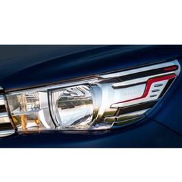 Toyota Hilux Revo Chrome headlights Cover - Model 2016-2017-SehgalMotors.Pk