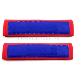 Fancy Sporty Seat Belt Covers Red Blue Color | Seat Belt Covers | Seat Belt Shoulder Cover Pads-SehgalMotors.Pk