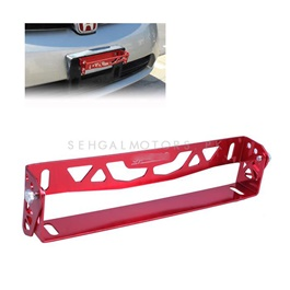 Steel Number Plate License Plate Tilter Red -SehgalMotors.Pk