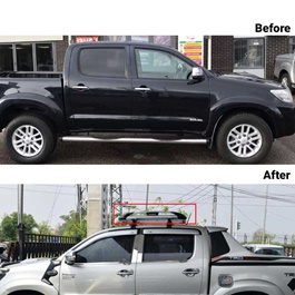 Toyota Hilux Revo Roof Rack Black Silver - Model 2016-2017	-SehgalMotors.Pk