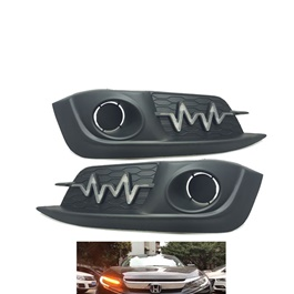 Honda Civic Fog Lamp DRL Cover Heartbeat Style - Model 2016-2018
