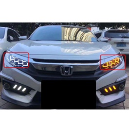 Honda Civic Full Led Headlight Bugatti Style Front Lamp - Model 2016-2018